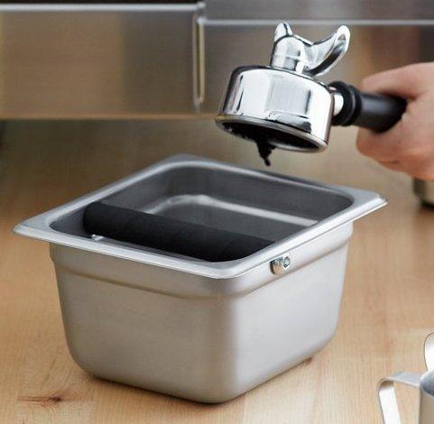 Box de acero inoxidable para los desechos de cafe