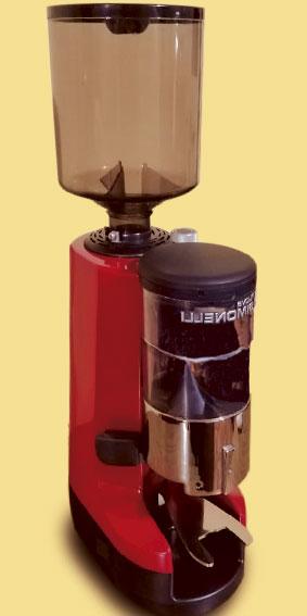 Moledora de cafe automatica color rojo Italiana